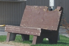 Old Bus Bench 13
