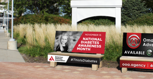 Diabetes Awareness Bench